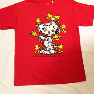 Peanuts Snoopy Christmas t-shirt mens new size L